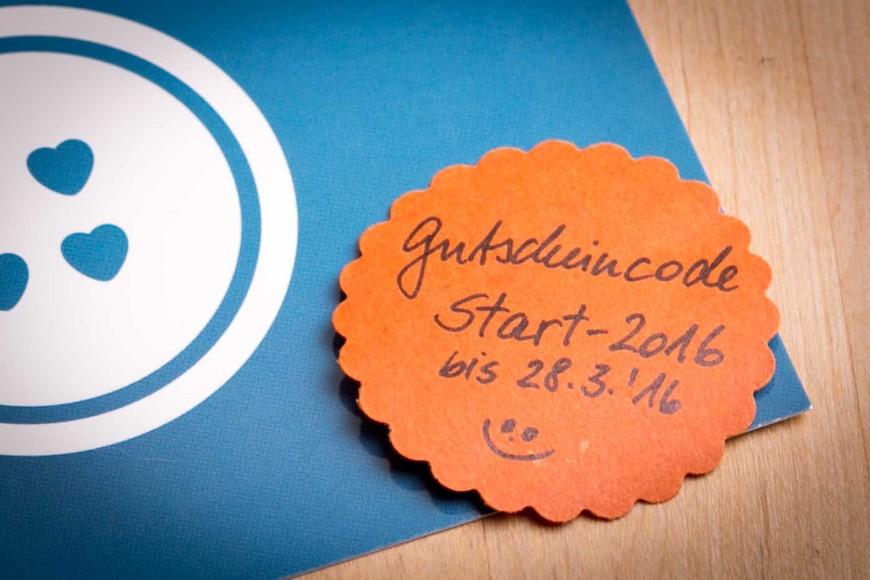 Gutscheincode: Start-2016