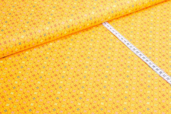 Jette gelb Retro Baumwolle