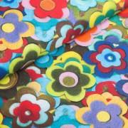 Mila Blumen Taschenstoff Baumwolle