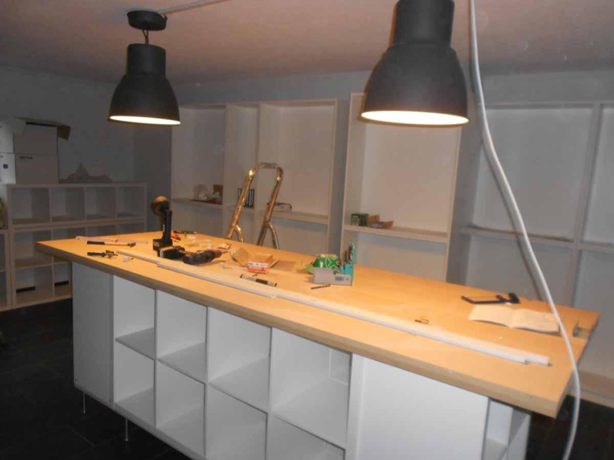 mein atelier der innenausbau lauralina 39 s atelier. Black Bedroom Furniture Sets. Home Design Ideas