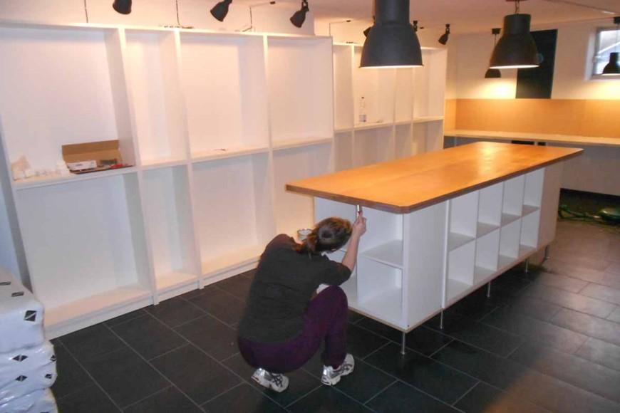 Mein Atelier, der Innenausbau!