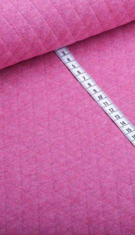 Steppstoff uni rosa melange