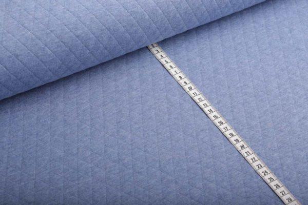 Steppstoff uni blau melange