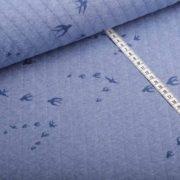 Steppstoff Schwalben blau