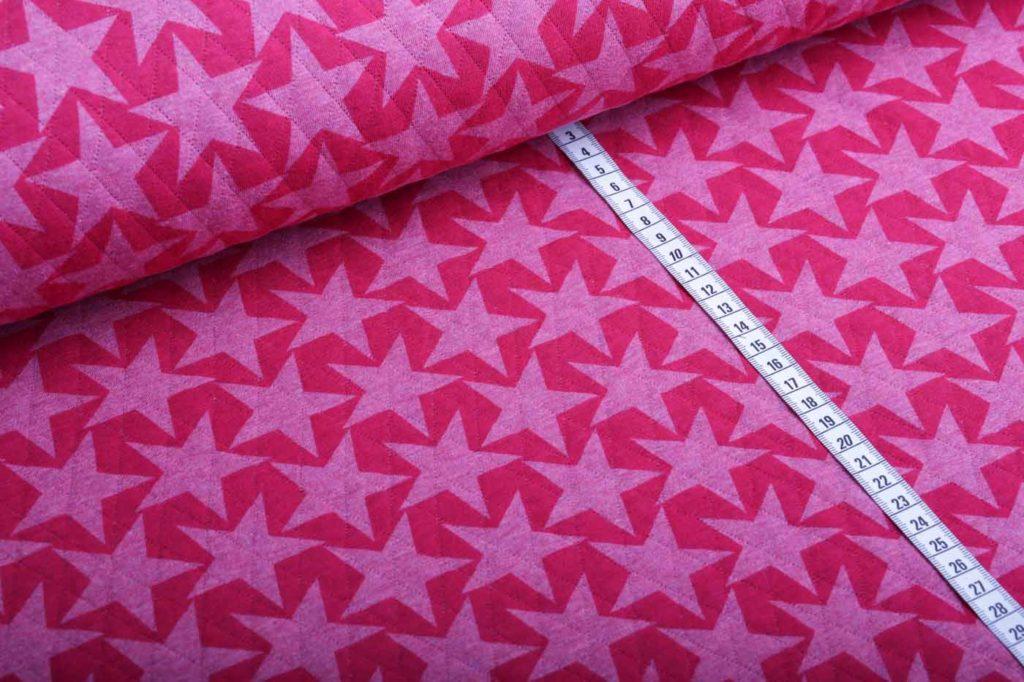 Steppstoff Sterne rosa