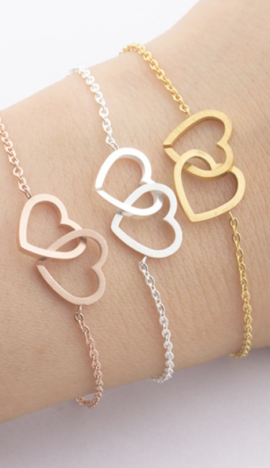 Armband ♡ verbundene Herzen ♡
