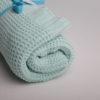 gestrickte Babydecke mint
