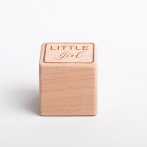 Holzwürfel Little Girl