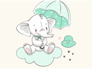 Elefant mit Schirm